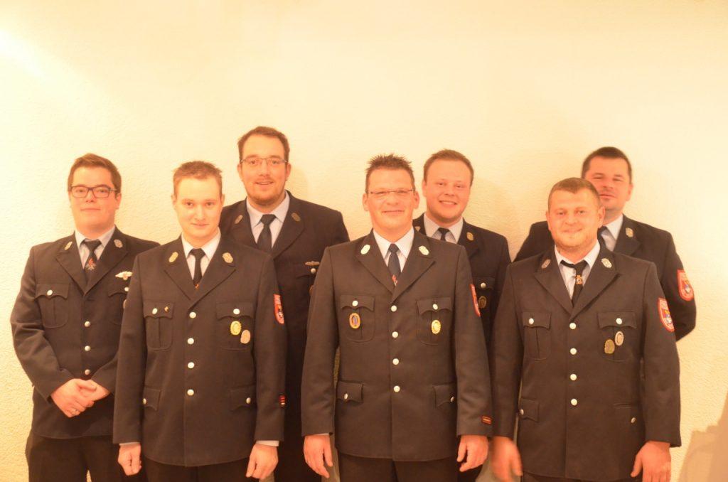 v. l. n. r. Michael Grom, Christian Kunzmann, Markus Klemke, Christian Horn, Florian Grom, Jan Trümbach, Andreas Kleinhenz